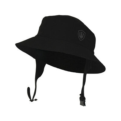 FK H20 Surf Hat. Wide brim protects face, cheeks, back neck. Soft fit, neoprene