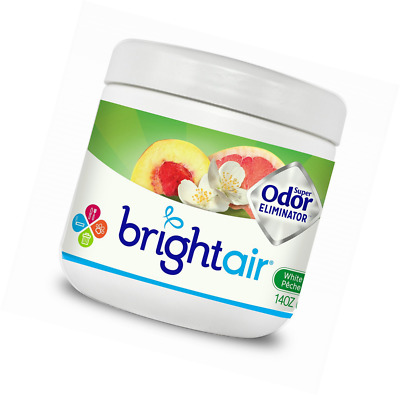 Bright Air Solid Air Freshener and Odor Eliminator, White Peach and Citrus, 14 O