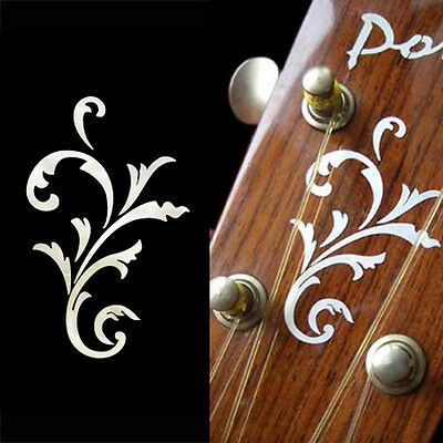 Small Vine (White Pearl) Inlay Stickers Decal Headstock Peghead Ukulele Mandolin