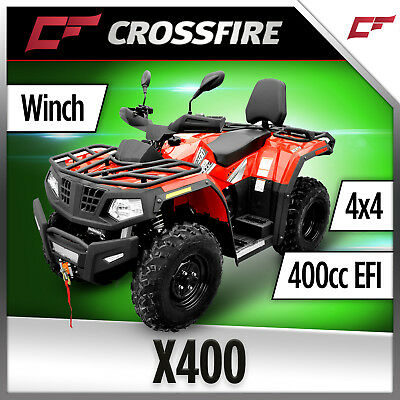 Crossfire x400 4 x4 AWD Fuel Injection, Quad bike, Farm Dirt ATV