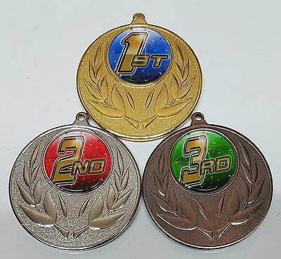1 x 50mm VOLLEYBALL  1st, 2nd or 3rd MEDAL,TROPHY,Free engraving, Free ribbons