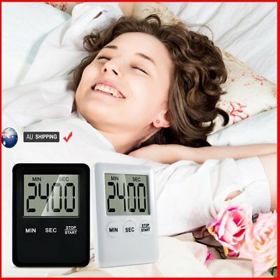 LCD Timer Alarm Magnetic Digital Count Down Up Kitchen Egg Cooking Beep Clock AU