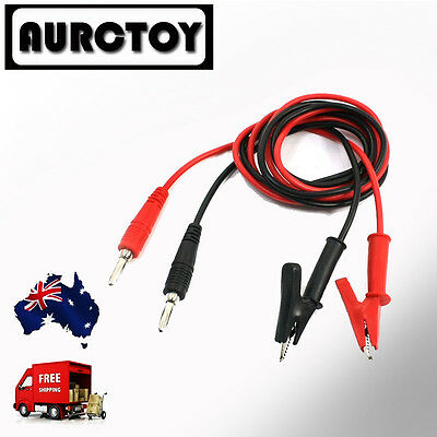 3Extension Test Leads for Multimeter banana plug Clips alligator 1 Meter OZ