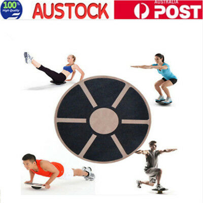 Wood Yoga wobble balance board thicken Stability Waist Wriggling Gymtraining39cm