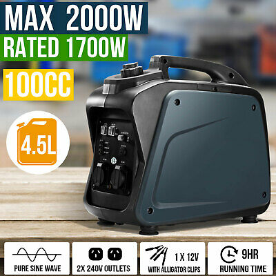 New Gentrax Portable Inverter Generator 2.0KW Digital Pure Sine Camping Petrol