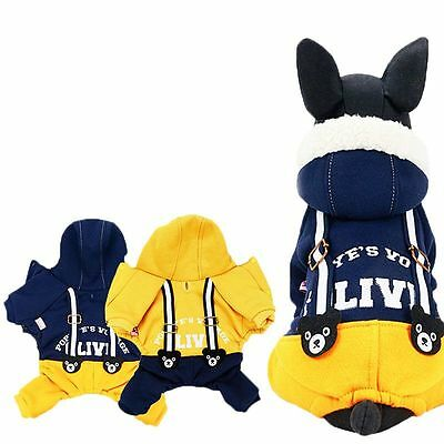 Winter Dog Jumpsuit Pet Cat Puppy Chihuahua Warm Clothes Hoodie Coats Apparel