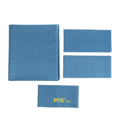 PNS988 Worsted Wool Snooker Pool Billiard Table Cloth 9ft Table Light Blue