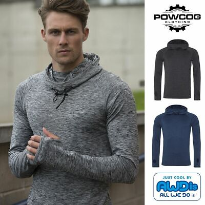 AWDis Cool Men's Hoodie Cowl Neck Style Hood Long Sleeve Running Yoga Sports Top