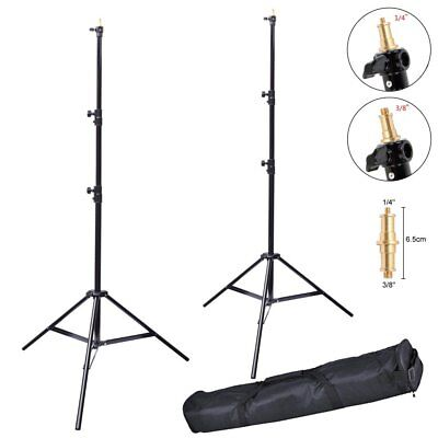 2X Victory 313 Aluminum 2.6M Heavy Duty Spring Cushioned Light Stand + Bag AU