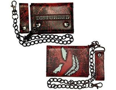 Official Licensed - Disturbed - Face Shatter Chain Wallet - Metal Import