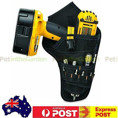 Heavy Duty Drill Drive Holster Cordless Tool Belt Pouch Bag Pocket Bit Holder