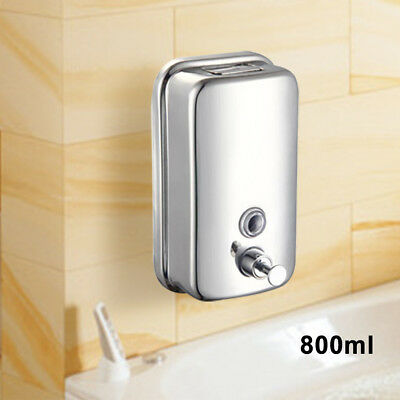 800Ml Soap/shampoo Dispenser Stainles Steel Durable Pump Action Wall Mounted