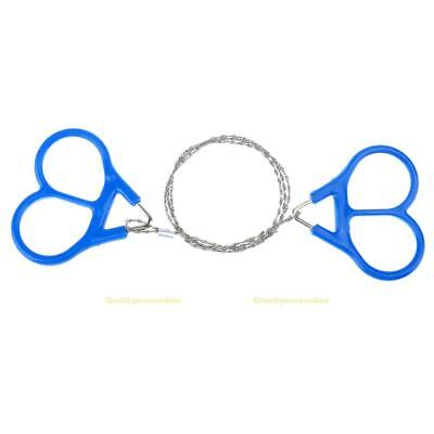 #QZO Portable Outdoor Emergency Survival Gear Plastic Steel Wire Saw Ring Scroll