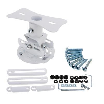 Universal TV LCD Projector Ceiling Mounts Wall Bracket Mount Holder White