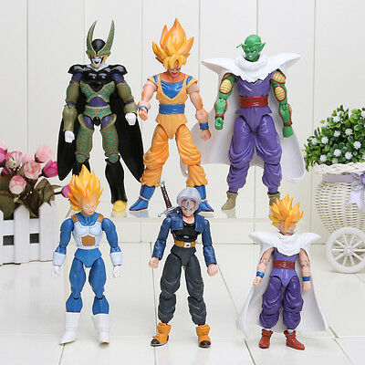 6pcs Dragon Ball DBZ Anime Goku Vegeta Piccolo Gohan super saiyan Joint Figure