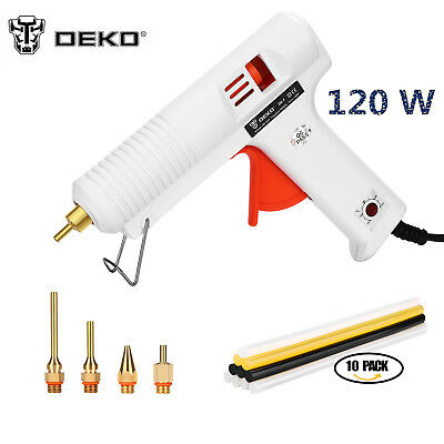 120W Hot Melt Glue Gun 10pcs Glue Sticks DIY Repair Kit Temperature 100°C-220°C