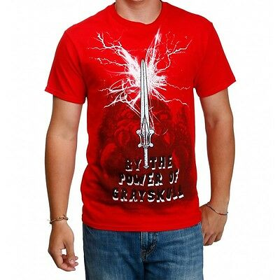 Men's Red Masters Of The Universe The Sword T-Shirt - Us-Large NEW