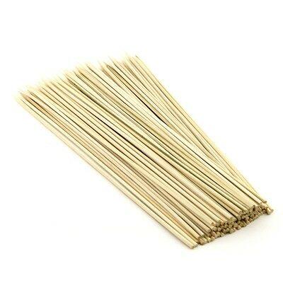 100 x 7 inch WOODEN BAMBOO SKEWERS STICKS FOR KEBAB, BBQ, PARTY, FRUIT STICKS