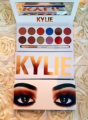 2017 New Kylie Eyeshadow The Royal Peach Palette  12 Colors with Brush Pen