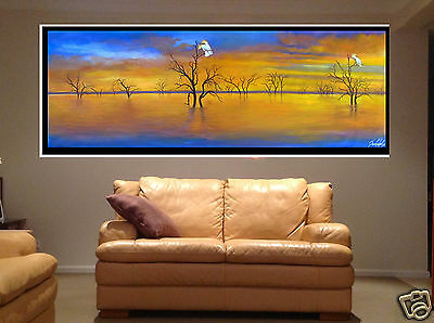 """71"""" Australia Landscape Oil Painting Cockatoo Ridge  other sizes By jane"""