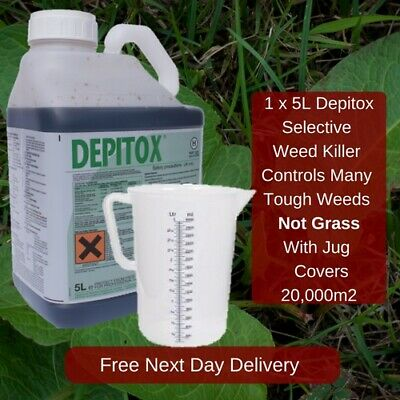 Depitox Selective Weed Weeds Killer 5L Great At Controlling Ragwort With Jug
