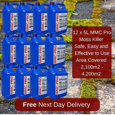 12X5L Mmc Pro Moss Killer Hard Surface Cleaner Clear Algae Driveway Patio Last U