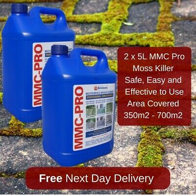 2X5L Mmc Pro Moss Killer Hard Surface Cleaner Clear Algae Driveway Patio Last Up