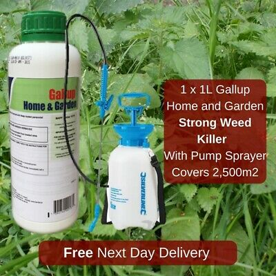 5L Pump Sprayer With Gallup Extra Strong Industrial Spray Weed Moss Killer