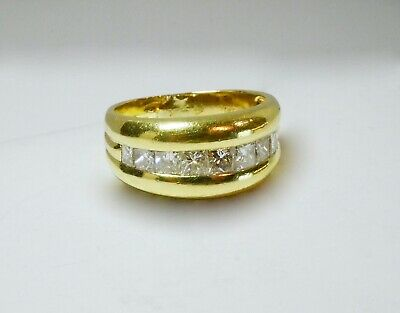 bague or jaune 9 diamants