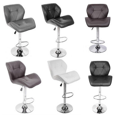 2 Padded Swivel PU Leather Chairs Breakfast Kitchen Bar Stools Pub Barstool New