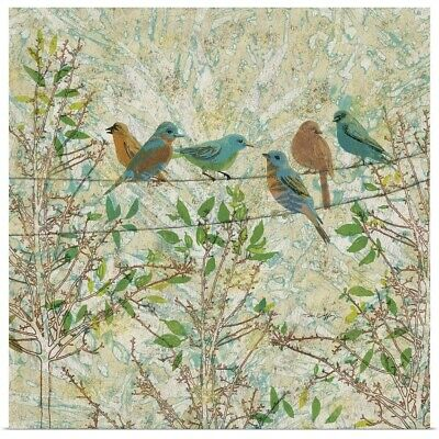Poster Print Wall Art entitled Birds on a Wire