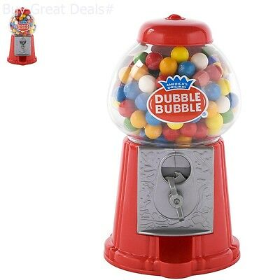 Classic Red Bubble Gum Machine Bank 50 Gumballs Included Candy Dispenser