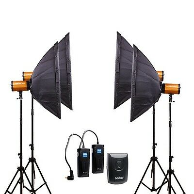 Pro GODOX 1200W 4*300SDI Photography Studio Strobe flash Light stand softbox Kit