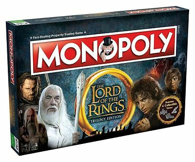Monopoly Lord of the Rings Trilogy Edition Board Game with Free Top Trumps Card