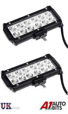 2 Pcs Powerful 36W Front Bull Nudge Bar Spot Led Lamps Day Lamp Car Suv 4x4 12V