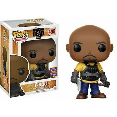 "Exclusive Sdcc The Walking Dead T-Dog 3.75"" Pop Tv Vinyl Figure Funko 495"