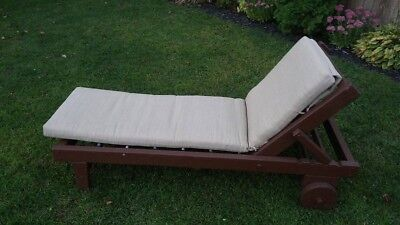 Vintage Redwood Chaise Lounge Chair - Vandy Craft Chicago Il.