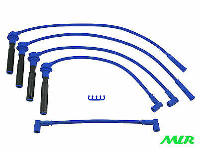 Renault 19 Clio 16V 1.8 2.0 Williams Blue 10Mm 4Core Ignition Ht Leads Wires Cu
