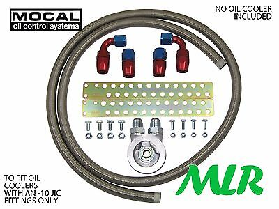 Ford Focus Mk1 Mk2 St Rs Mocal -10 S/Steel Braided Oil Cooler Fitting Kit Zq-3/4