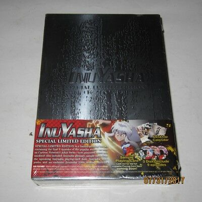 Brand New Inuyasha Special Limited Edition 3 Disc DVD Boxed Set Razor Cut Spine