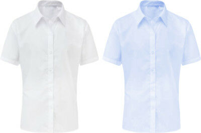 Boys 2 Two Pack Blue Long Sleeve School Shirt Regular Fit UK