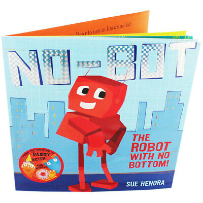 No-bot The Robot With No Bottom by Sue Hendra (Paperback), Multibuys, Brand New