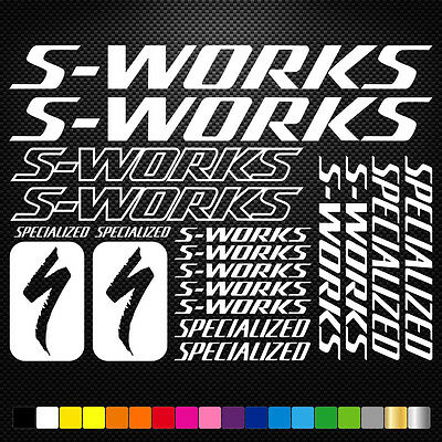 S-Works Specialized Kit Pegatinas Stickers Vinilo Bici Bicicleta Bike Mtb Btt