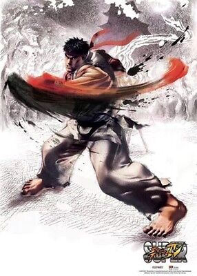 Super Street Fighter IV Ryu Fabric Poster 33 X 44-In NEW AUTHENTIC LICENSED SNES