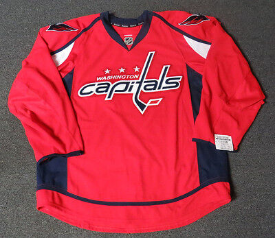 online store 0da3d 5ad48 NEW WASHINGTON CAPITALS Red Authentic Team Issued Reebok Edge 2.0 Hockey  Jersey
