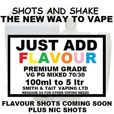E-Liquid Base 70/30  Vg Pc Just Add Flavour E Juice Make Vape Juices
