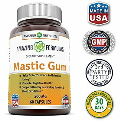 Amazing Nutrition Mastic Gum Natural Resin 500 Mg. Digestive Health 60 Capsule