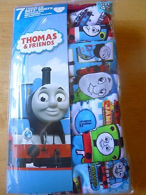 Boys 4T Briefs Underwear Thomas & Friends Train 7 Pack Assorted Designs  NWT