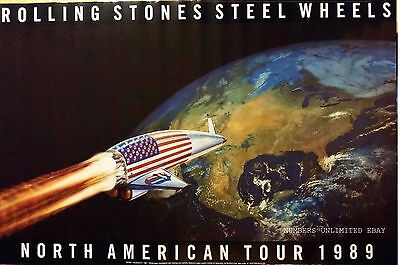 ROLLING STONES - Steel Wheels North American Tour 1989 SEALED VINTAGE POSTER