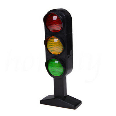 Miniature Plastic Road Street Traffic Light Sigh Model Kids Role Play Toy Gifts